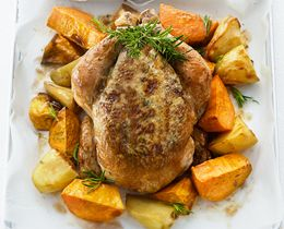 Roast Chicken with PHILADELPHIA & Herb Seasoning Recipe #Roast #Recipe