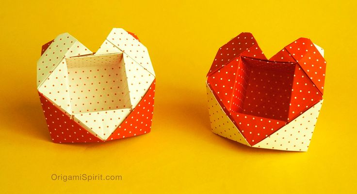 Origami Valentine Heart-Box  Valentine's Day offers a good excuse to make some sweet origami hearts, and give lots of kisses to our favorite princes and princesses.  If you don't celebrate Valentine's Day? Not to worry! Love is one of the best excuses to make an origami box,  and let that special someone know of your love for them. Origami box, origami heart, origami tutorial, easy box for Valentine, DIY valentine gift, paper craft,