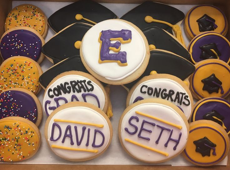 Madison East High School Graduation Cookies by @cookiesbykatewi