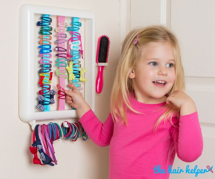 Hair accessory storage for girls. How cool?! Such a clever idea! Visit thehairhelper.co.uk