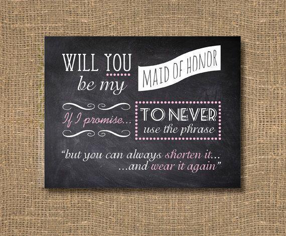 13 best Bridesmaid images on Pinterest Bridesmaid invitations