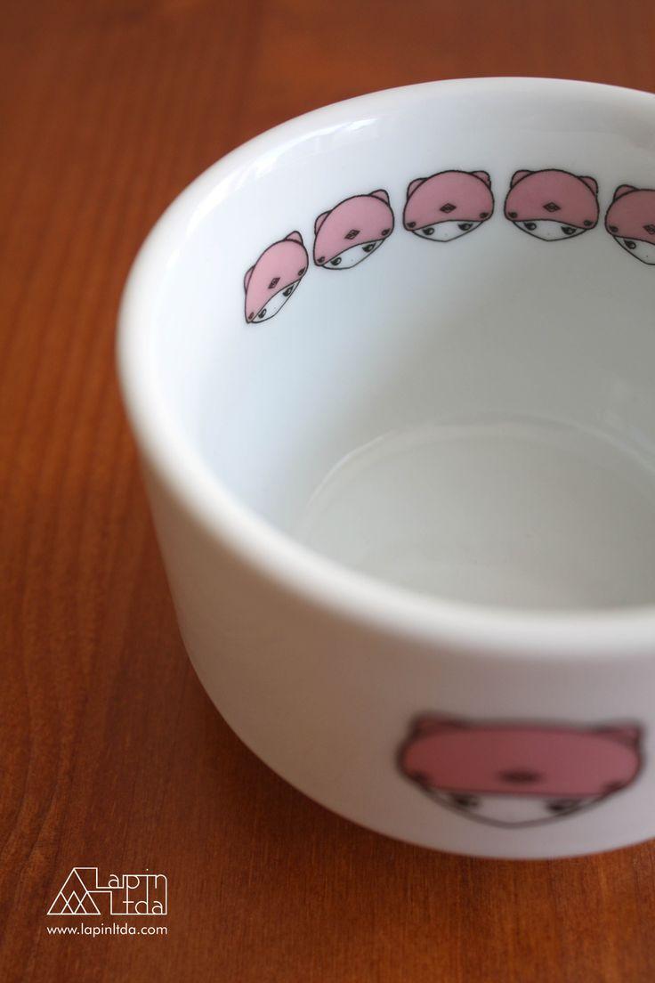 tigela, gato, rosa, porcelana, kawaii, bowl, cat, pink, porcelain