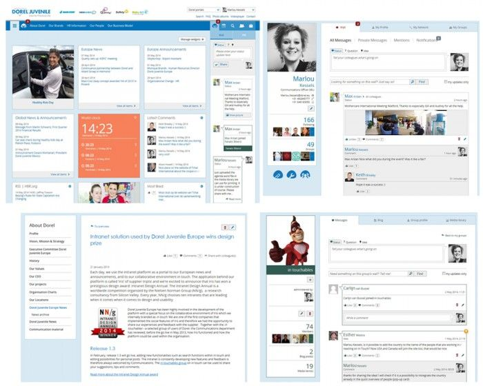 And this is the winner of My Beautiful Intranet 2014: the Intranet from Dorel Juvenile Europe