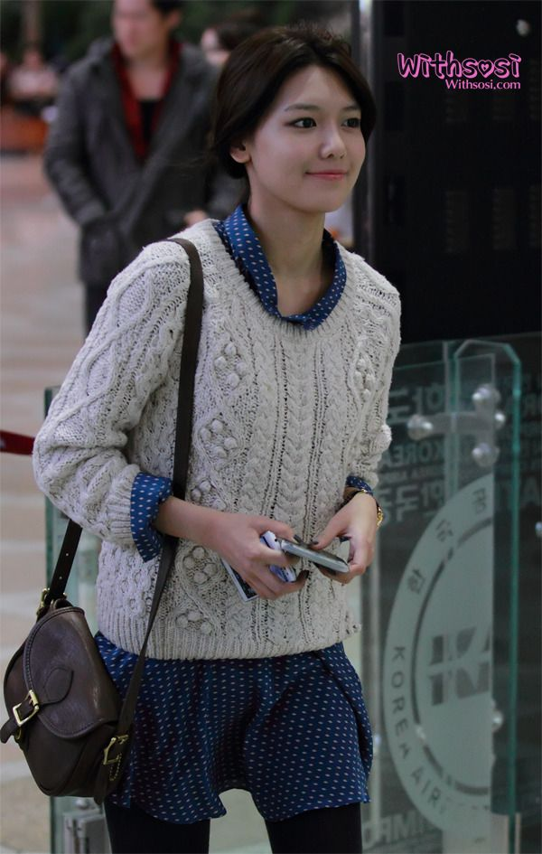 in love with Sooyoung's knitted cable jumper