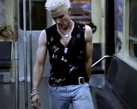 My favourite Spike moment.  He looks so damn hot in Billy Idol inspired garb http://www.thesterlingsilver.com/product/puma-atomic-mens-quartz-watch-with-black-dial-analogue-display-and-green-polyurethane-strap-pu103941001/