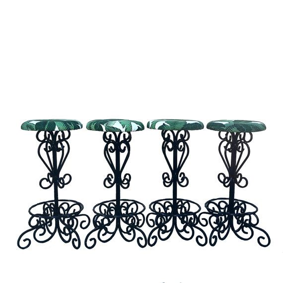 Pier  Imports Wrought Iron Kitchen Chairs