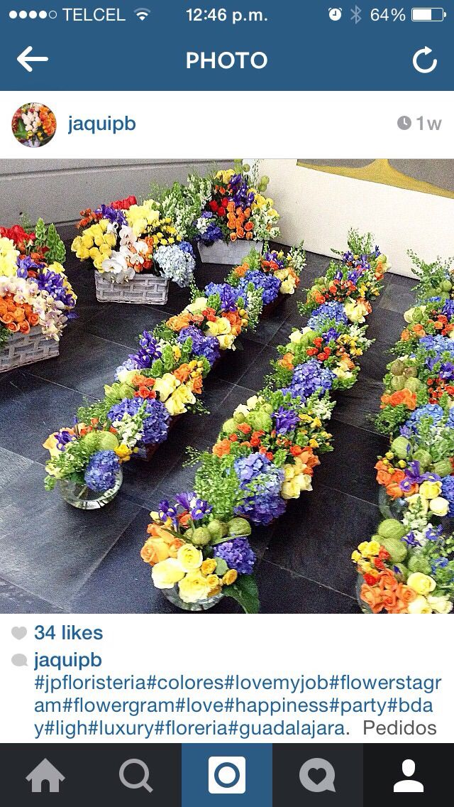 Bday party flower deco