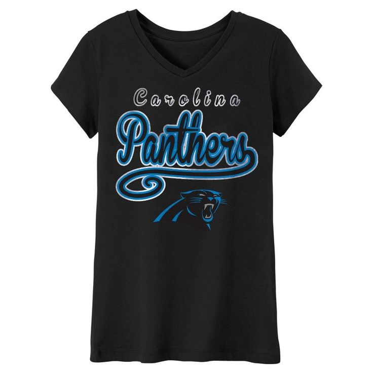 T-Shirt Carolina Panthers Team Color S, Girl's, Blue