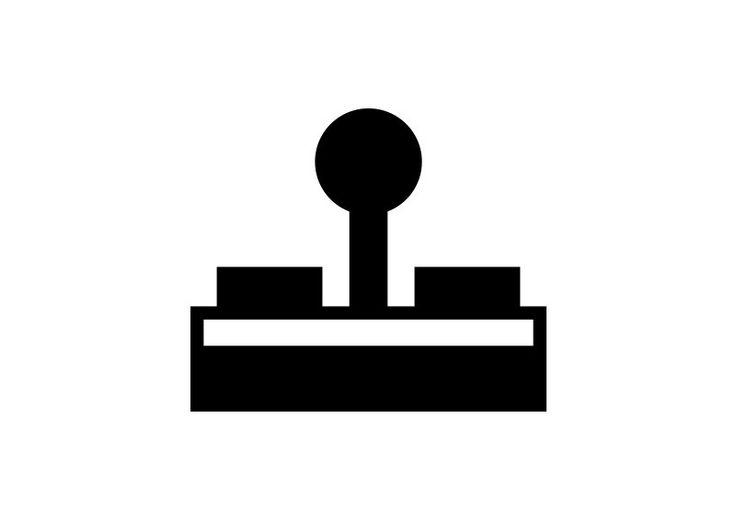 Simple Joystick Vector Icon