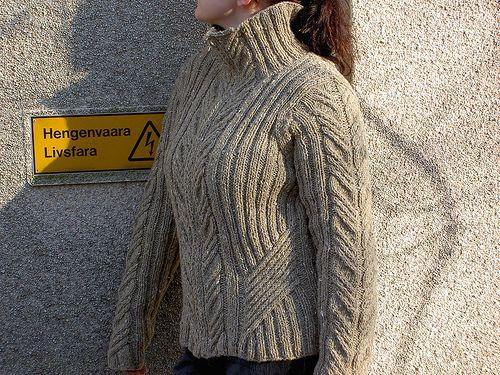 Urban Aran Cardigan - original pattern by Patons in bulky wool (US10/6mm.)