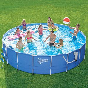 "Summer Escapes 18' x 42"" Metal Frame Swimming Pool @sandyevans1023"