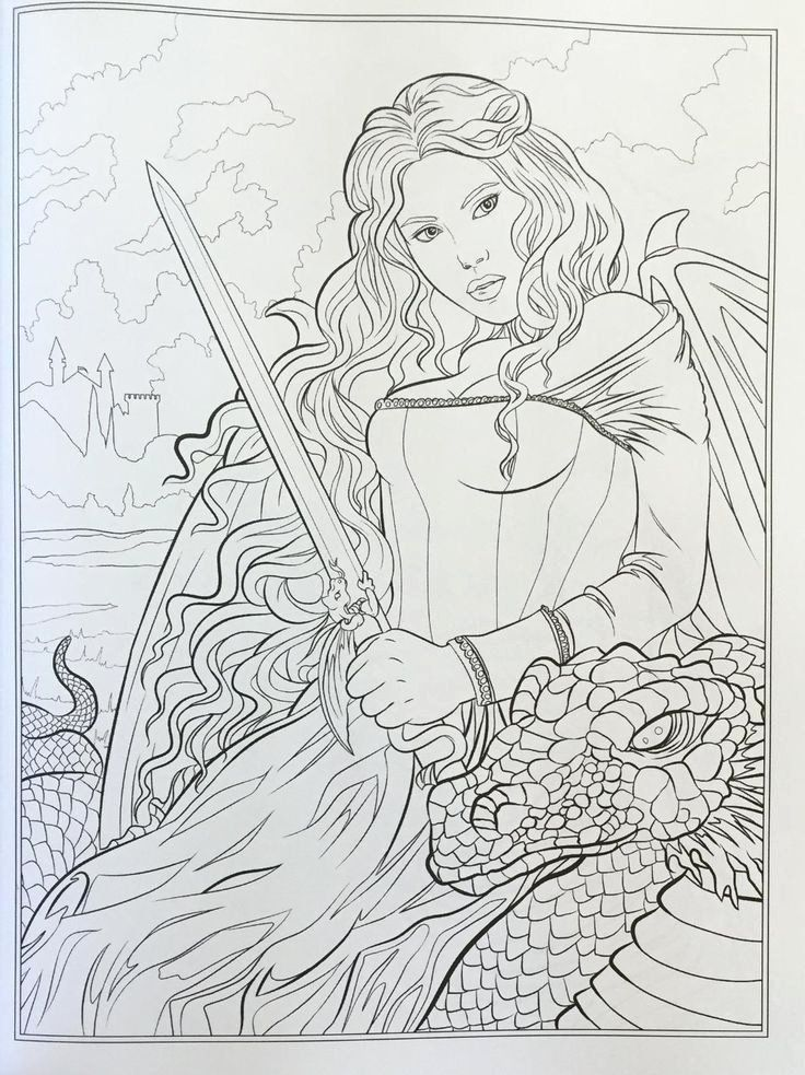 32 Fantasy Adult Coloring Book In 2020 Coloring Books Coloring Pages Fairy Coloring Pages