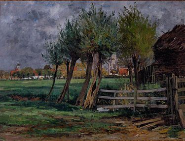 #LesXX Rodolphe Paul Marie Wytsman (Belgian, 1860–1927), Rural Scene (Flemish title: Plattelandsgezicht)