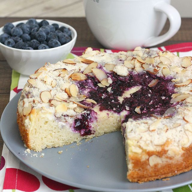Blueberry-Cream Cheese Coffee Cake recipe by Tracey's Culinary Adventures