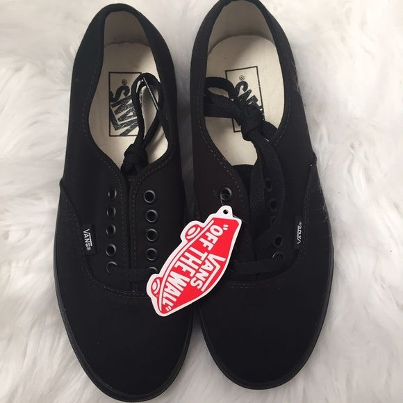 vans black authentic womens