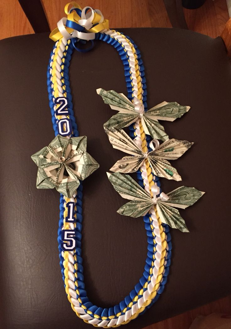 Royal blue, gold and white double braided ribbon l…