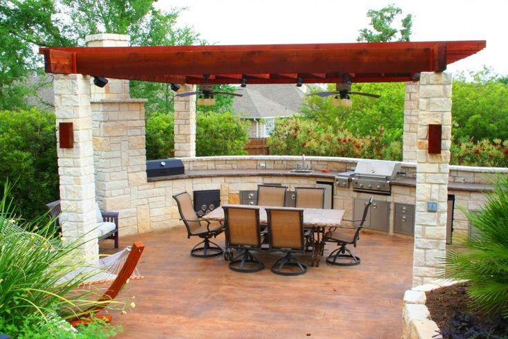153 best Summer Kitchen Ideas images on Pinterest | Outdoor kitchen ...