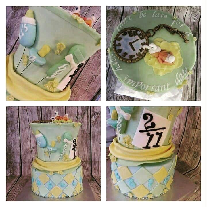 Mad Hatter baby shower cake