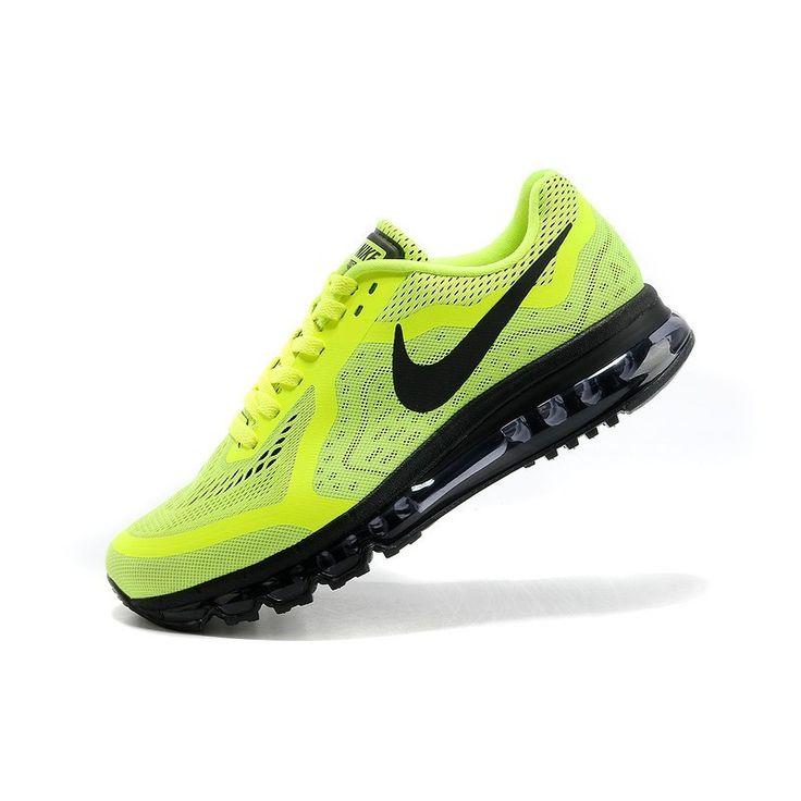 Demping Hardloopschoenen Nike Air Max 2014 Heren Neon Geel Zwart,HOT SALE!