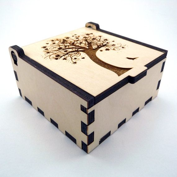 Tree of Life Jewelry Box Wood Trinket Box Small Jewelry