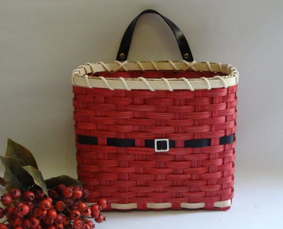 Mail Basket / Wall Basket/ Santa Christmas Basket by JGBaskets