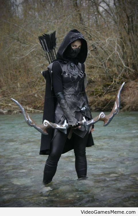 Skyrim Nightingale cosplay - http://www.videogamesmeme.com/cosplay/skyrim-nightingale-cosplay/