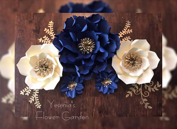 1 X Large Paper Flower 2 Large Paper Flowers 2 Small Paper Flowers