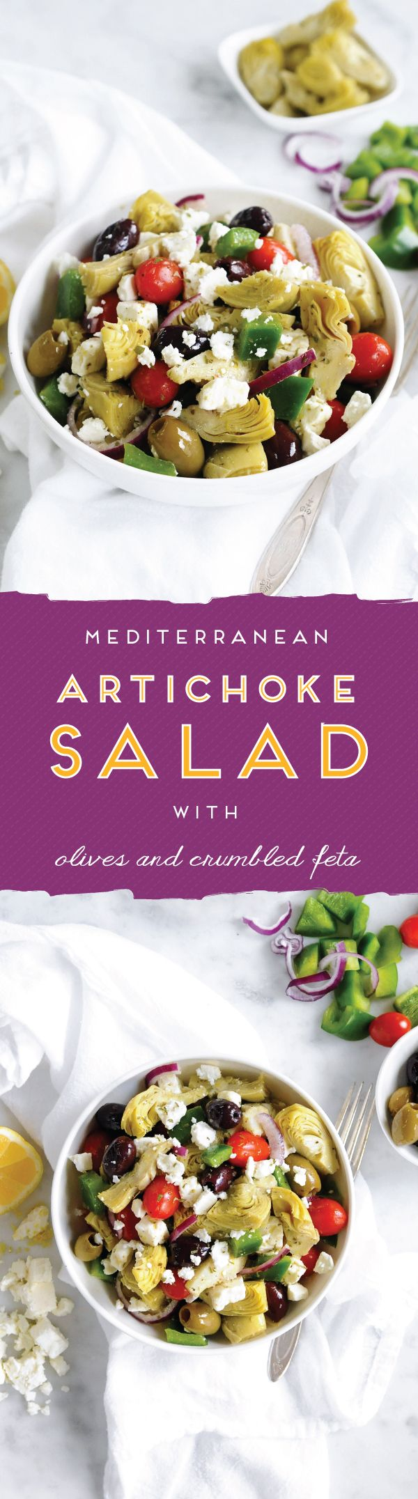 YUM. // Mediterranean Artichoke Salad