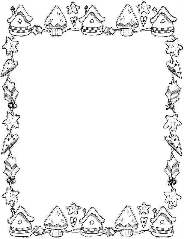 wide frame coloring pages christmas - photo#1