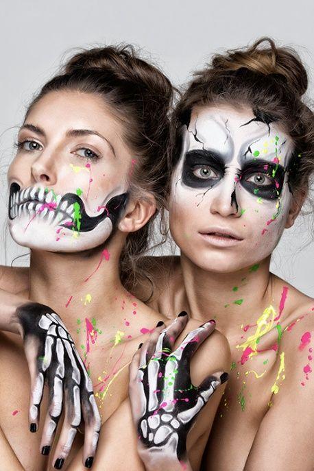 Wow, tolles Make up für Halloween ❤ Gruselige V…