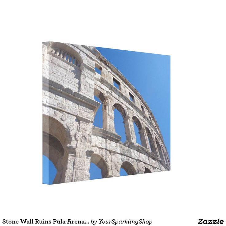 Stone Wall Ruins Pula Arena Croatia Photography Canvas