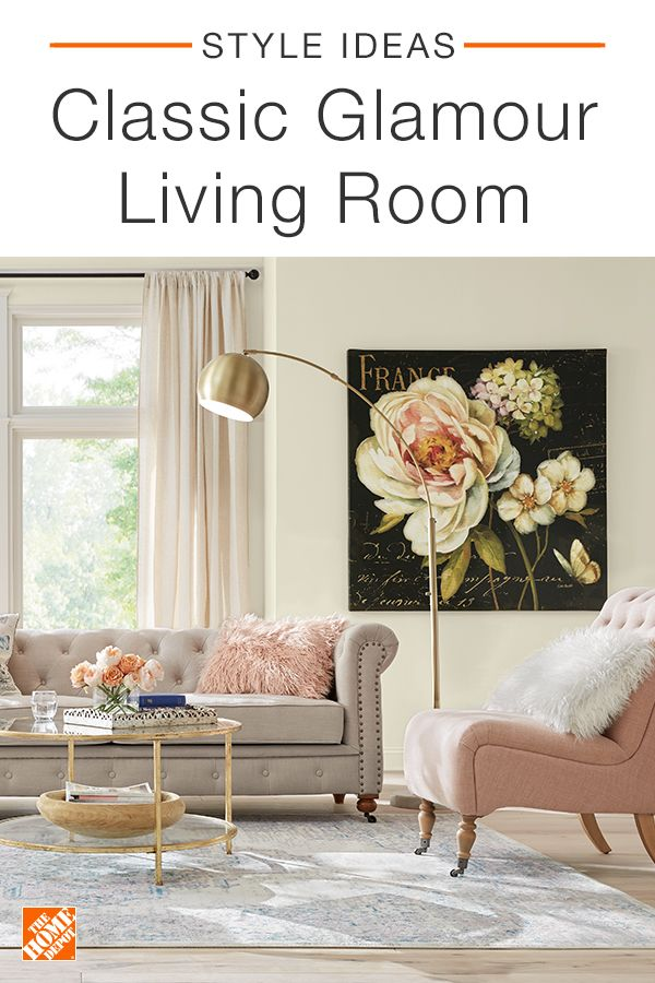 A Regal Tufted Sofa Is A Great Way To Add Instant Classic Glam To Your Living Room The Addition Of Nailh Glamour Living Room Living Room Living Room Accents