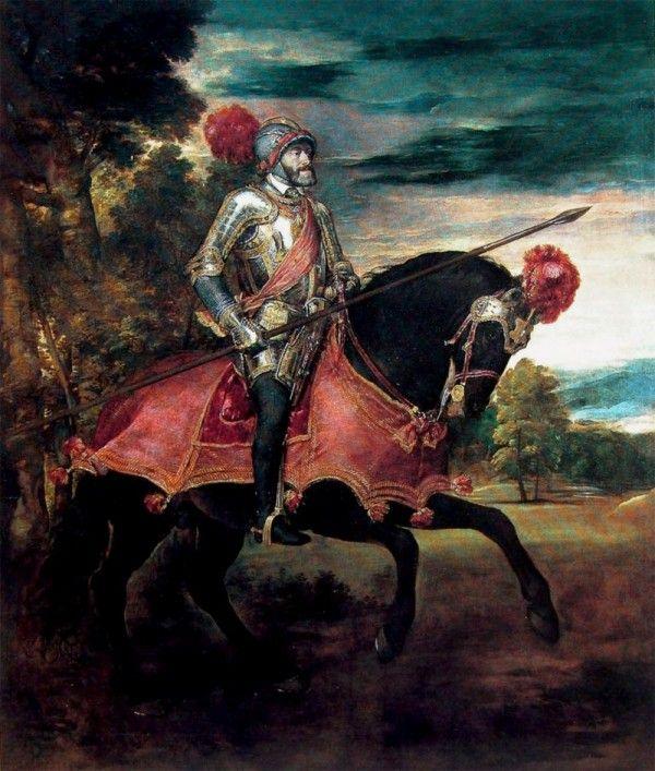 Tycjan Karol V na koniu