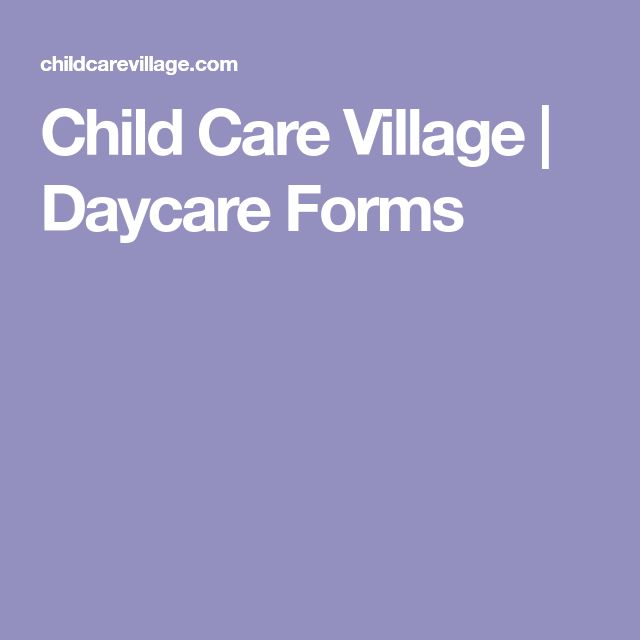 Best 25 Daycare Forms Ideas On Pinterest