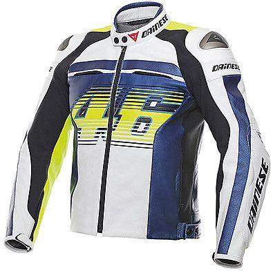 Giacca in pelle - Motorcycle Biker Racer Leather Jacket Vr46 D1 2015 Dainese November discount code 30% FB2016MT www.motorama.it