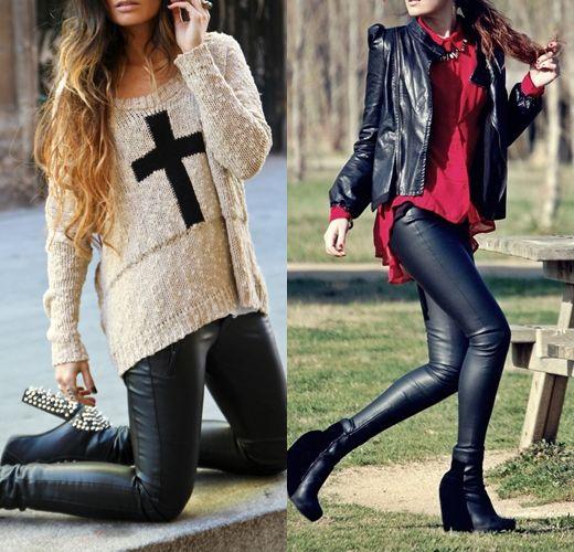 Goth Στυλ δερμάτινο παντελόνι