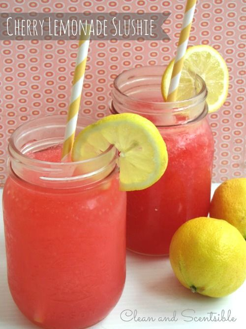 Cherry raspberry lemonade slushie -so refreshing!