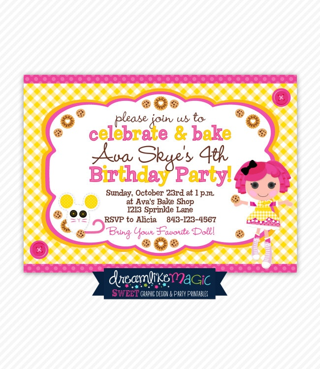 64 best Lalaloopsy Theme Party images on Pinterest | Lalaloopsy ...