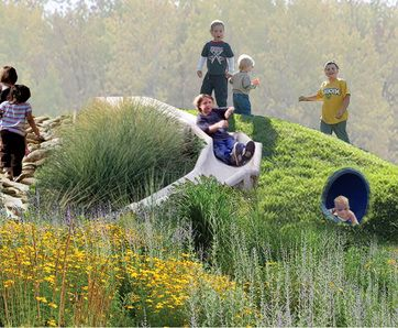 Grass slopes / tunnels / slides / rocky climbing - this has it all.