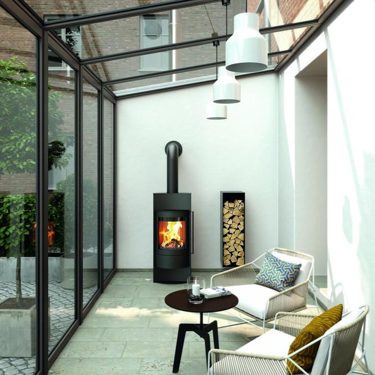 ein kaminofen ist modern und macht ein zuhause gem tlich. Black Bedroom Furniture Sets. Home Design Ideas
