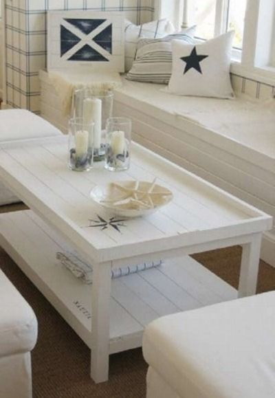 Creramy wood and clean lines Pinner said 'I love this. LOVE. L. O. V. E.  However - 25+ Best Ideas About Beach Style Coffee Tables On Pinterest