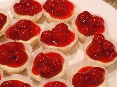 Delightful Nourishment: mini cherry cheesecake bites Click for recipe!