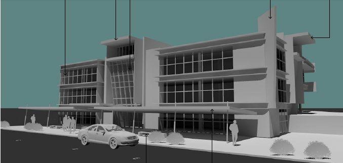 A commercial building refurb design.