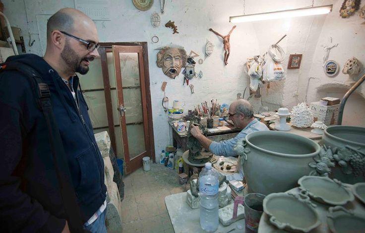 """Progetto """"Made in Loco"""". Residenza d'artista a Grottaglie, Puglia. Ceramica  Giovanni Maffucci"""