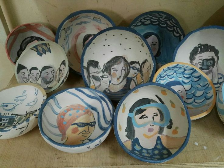 Bowls inspired in summer, by lourdes ral