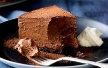 Μους σοκολάτας γρήγορη, με μπισκοτένια βάση, με 5 μόνο υλικά