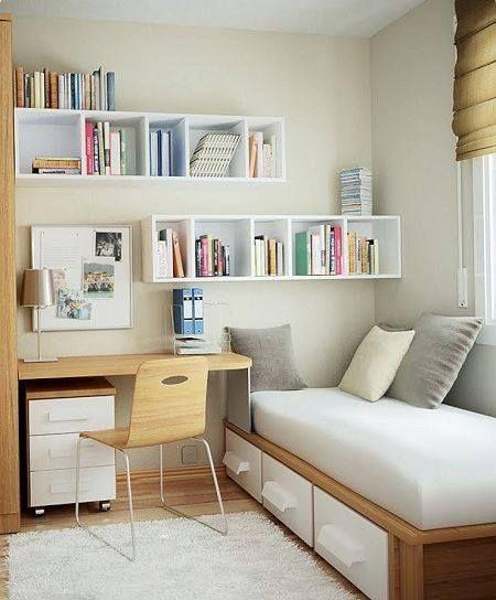 Idéias para espaços pequenos - perfect for spare bedroom