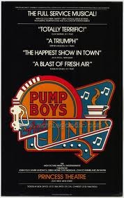 Pump Boys and Dinettes - what a great little show.  I must have seen this 3 or 4 times.. Talented cast - Debra Monk and Cass Morgan went on to many other Broadway shows.