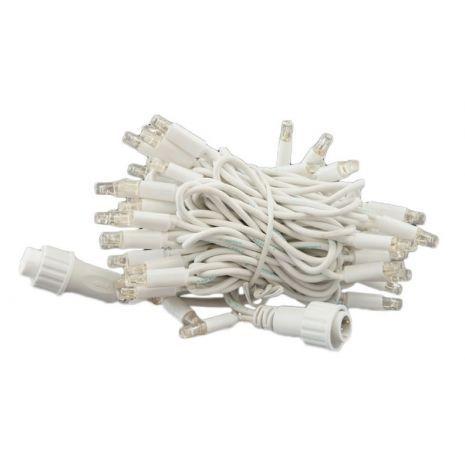 LED string 6M 60 warm wit LEDs waarvan 6 twinkelen snoer wit