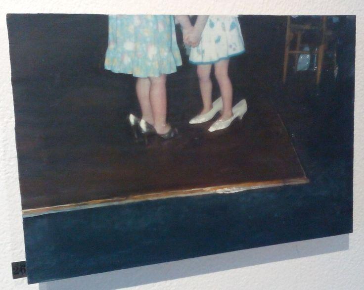 Setting the Scene, An Innocent Pair, 2015 (acrylic on panel, 21 x 31 cm), by Sarah Edmondson €90